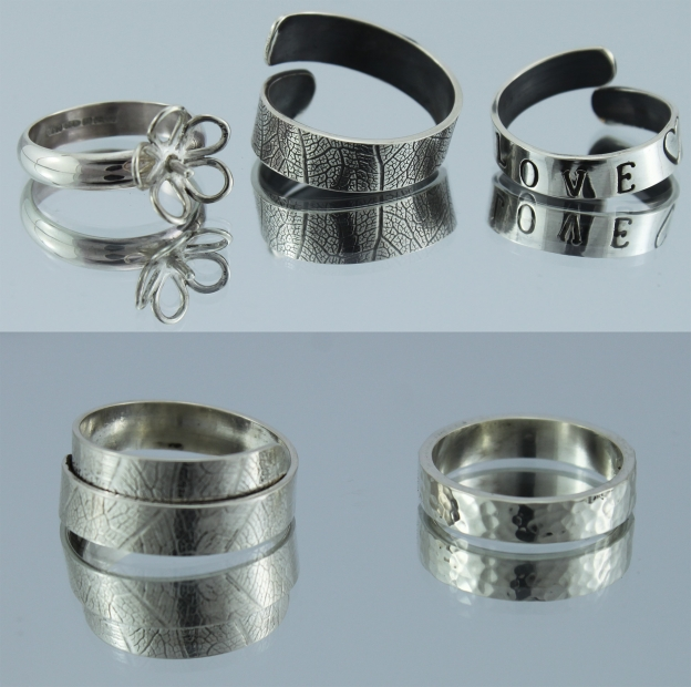 Silver Rings - example from course at Studio Budgie Galore