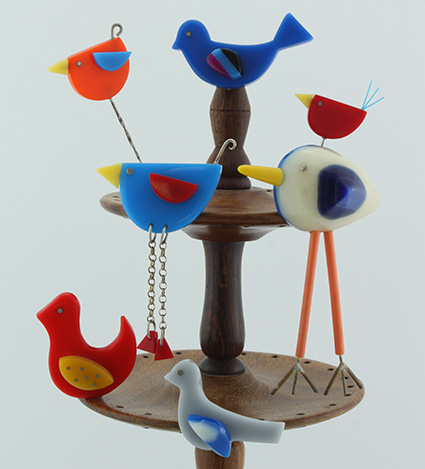 Birdie Brooches at Studio Budgie Galore