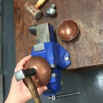 Copper Bowl on Vice