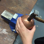 Copper Bowl being made