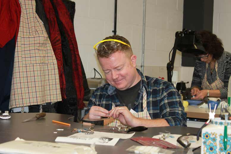 Happy Dave making jewellery