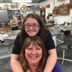 Mum& Daughter enjoying Studio Budgie Galore