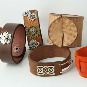 Leather Cuff Workshop - Studio Budgie Galore Ltd